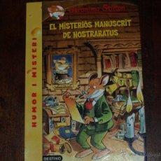 Libros de segunda mano: GERONIMO STILTON. EL MISTERIOS MANUSCRIT DE NOSTRARATUS. DESTINO. HUMOR I MISTERI.CATALAN/VALENCIANO. Lote 41037848