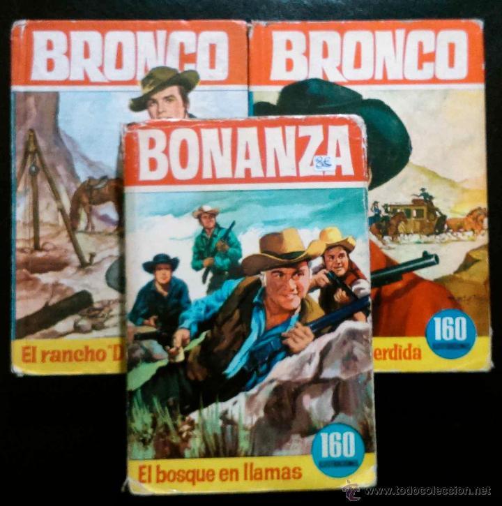 3 LIBROS DE BRONCO Y BONANZA: LA DILIGENCIA PERDIDA,EL RANCHO DOBLE C,EL BOSQUE EN LLAMAS - HÉROES (Libros de Segunda Mano - Literatura Infantil y Juvenil - Novela)