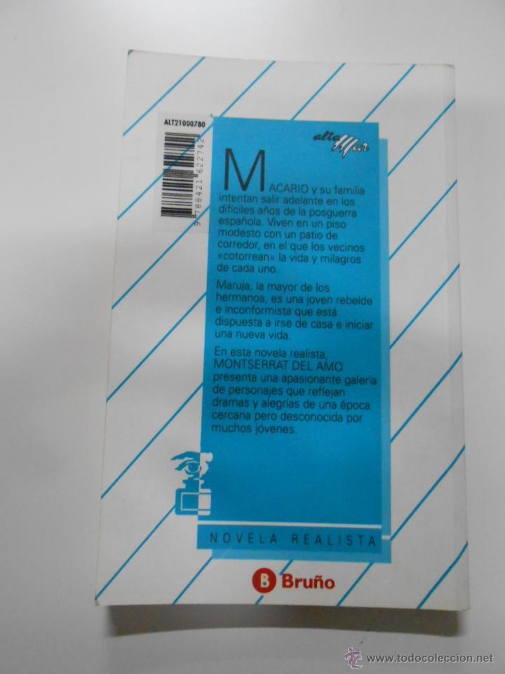 Libros de segunda mano: PATIO DE CORREDOR. MONTSERRAT DEL AMO. TDK17 - Foto 2 - 41457512