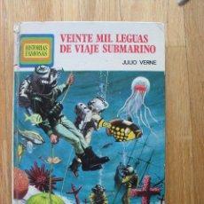 Libros de segunda mano: VEINTE MIL LEGUAS DE VIAJE SUBMARINO, JULIO VERNE, HISTORIAS FAMOSAS, BRUGUERA LEER. Lote 41769353