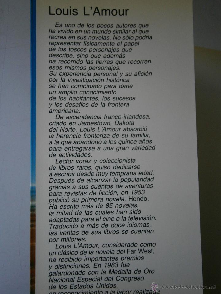 Libros de segunda mano: ESTACION CHEROKEE LOUIS LAMOUR VIDORAMA 1989 - Foto 5 - 42334794