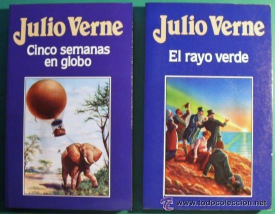 CINCO SEMANAS EN GLOBO Y EL RAYO VERDE DE JULIO VERNE, SIN LEER A ESTRENAR (Libros de Segunda Mano - Literatura Infantil y Juvenil - Novela)