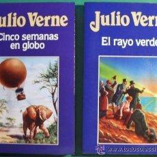 Libros de segunda mano: CINCO SEMANAS EN GLOBO Y EL RAYO VERDE DE JULIO VERNE, SIN LEER A ESTRENAR. Lote 44021651