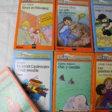 Libros de segunda mano: L- 1334. COLECCION EL BARCO DE VAPOR. LOTE DE 7 LIBROS.EDICIONES SM. AÑOS 80. VER TITULOS. Lote 44930665