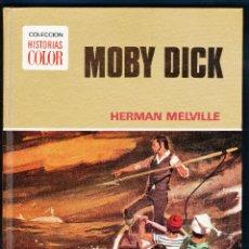 Libros de segunda mano: MOBY DICK - HERMAN MELVILLE - COL. HISTORIAS COLOR / CLASICOS JUVENILES - ED. BRUGUERA - AÑO 1972. Lote 47087428