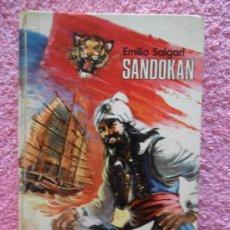 Libros de segunda mano: SANDOKAN EDICIONES BOGA 1976 MUNDO AVENTURERO 7 EMILIO SALGARI EDICIÓN 2ª. Lote 46182151