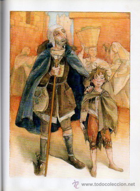 Libros de segunda mano: LAZARILLO DE TORMES - ADAPTACIÓN DE EDUARDO ALONSO. ILUSTRADO POR JESÚS GABÁN. ED.VICENS VIVES, 2006 - Foto 4 - 47521223