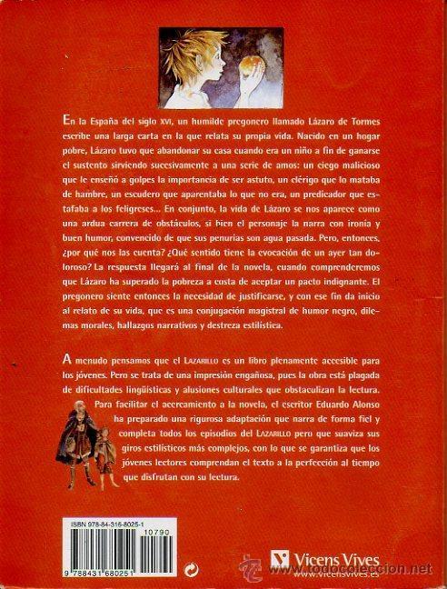 Libros de segunda mano: LAZARILLO DE TORMES - ADAPTACIÓN DE EDUARDO ALONSO. ILUSTRADO POR JESÚS GABÁN. ED.VICENS VIVES, 2006 - Foto 7 - 47521223