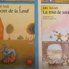 Libros de segunda mano: LA ROSA DE SANT JORDI DE JOLES SENNELL I EL SECRET DE LA LENA DE M. ENDE( VAIXELL DE VAPOR, CRUILLA). Lote 47540894