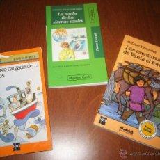 Libros de segunda mano: LOTE DE 3 LIBROS INFANTILES JUVENILES A PARTIR DE 9 AÑOS - BARCO DE VAPOR - SM - CASALS. Lote 47995775