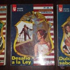 Libros de segunda mano: LOTE DE TRES BOLSILIBROS. FBI SELECCIONES POLICIACAS, EDITORIAL ANDINA, 1977. Lote 48201894