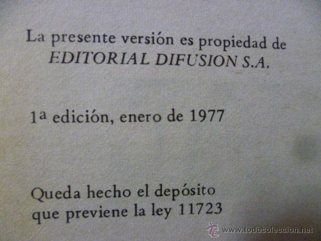 Libros de segunda mano: LA VUELTA AL MUNDO EN OCHENTA DIAS - JULIO VERNE - EDITOR DIFUSION - 1ª Ed. AÑO 1977 - Foto 3 - 49827925