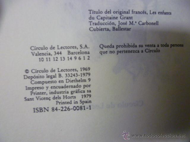 Libros de segunda mano: LIBRO LOS HIJOS DEL CAPITAN GRANT (1.969) Julio Verne - Foto 2 - 50252653