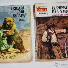 Libros de segunda mano: LOTE DE 2 NOVELAS DEL OESTE, SERIE CALIFORNIA Nº 786 Y 925, NOVELA, LIBRO. Lote 51651601