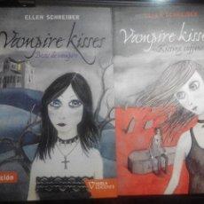 Libros de segunda mano: VAMPIRE KISSES 1&2 (BESOS DE VAMPIRO Y KISSING COFFINS) - ELLEN SCHREIBER. Lote 84309288