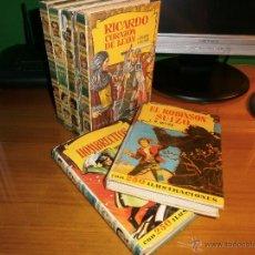 Libros de segunda mano: LOTE 6 LIBROS COLECCIÓN HISTORIAS - Nº 25,26,35,64,95,148 - EDITORIAL BRUGUERA, AÑOS 50. Lote 52537771