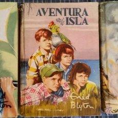 Libros de segunda mano: 3 LIBROS DE LA SERIE AVENTURA DE ENID BLYTHON EDICION 1956 CON IMAGENES. Lote 54287565