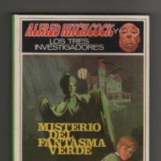 Libros de segunda mano: ALFRED HITCHCOCK Y LOS TRES INVESTIGADORES - MISTERIO DEL FANTASMA VERDE Nº4.. Lote 129441734