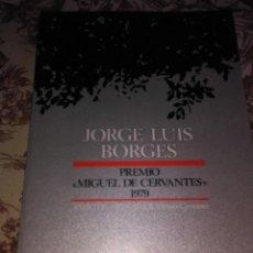 Libros de segunda mano: JORGE LUIS BORGES ( PREMIO CERVANTES 1979). Lote 55095208