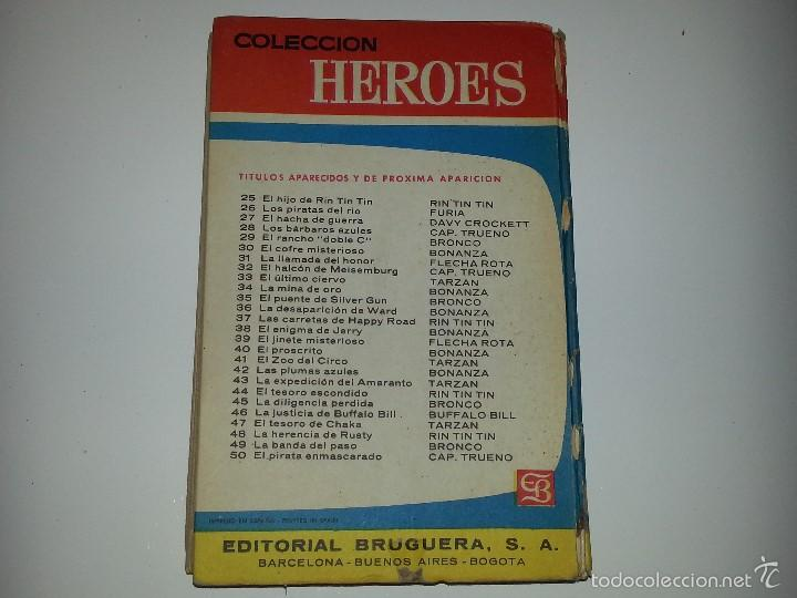 Libros de segunda mano: COLECCION HEROES - BRONCO - Nº 35 EL PUENTE DE SILVER GUN- ED. BRUGUERA 1ª EDICION AÑO 1964 - Foto 5 - 55952339