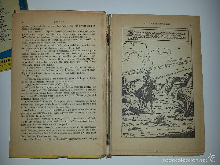 Libros de segunda mano: COLECCION HEROES - BRONCO - Nº 35 EL PUENTE DE SILVER GUN- ED. BRUGUERA 1ª EDICION AÑO 1964 - Foto 8 - 55952339