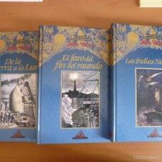 Libros de segunda mano: LOS VIAJES EXTRAORDINARIOS DE JULIO VERNE. TRES LIBROS.. Lote 57416396