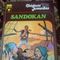 Libros de segunda mano: SANDOKAN - EMILIO SALGARI -- CLASICOS JUVENILES - LIBRO ILUSTRADO -REFSAMUMEESES5. Lote 58218733