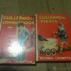 Libros de segunda mano: LOTE 2 LIBROS GUILLERMO - GUILLERMO EL CONQUISTADOR - GUILLERMO EL PIRATA. Lote 43038676