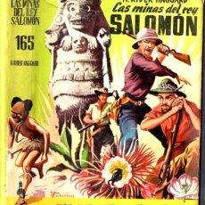 Libros de segunda mano: RIDER HAGGARD : LAS MINAS DEL REY SALOMÓN (MATEU CADETE COLOR, 1960). Lote 59104790