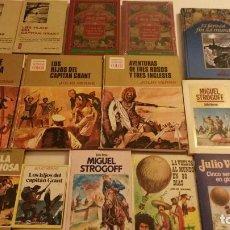 Libros de segunda mano: LOTE DE NOVELAS Y CUENTOS ILUSTRADOS DE JULIO VERNE DE DIFERENTES EDITORIALES Y COLECCIONES. Lote 63151652