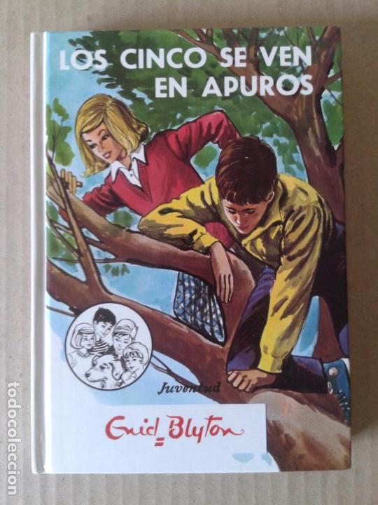 Resultado de imagen de imagenes de el libro de los cinco se ven en apuros tapa dura edicion vieja