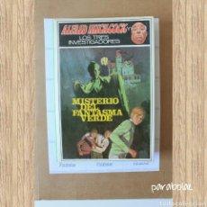 Libros de segunda mano: ALFRED HITCHCOCK Y LOS TRES INVESTIGADORES Nº 4 MISTERIO DEL FANTASMA VERDE, 1.980. Lote 64519858