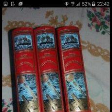Libros de segunda mano: LOTE DE JULIO VERNE LA ISLA MISTERIOSA Y VIAJE ALREDEDOR DE LA LUNA. COMO NUEVOS. Lote 71504365