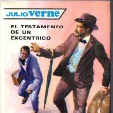 Libros de segunda mano: JULIO VERNE : EL TESTAMENTO DE UN EXCÉNTRICO (MOLINO, 1961). Lote 72228427