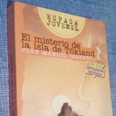 Libros de segunda mano: EL MISTERIO DE LA ISLA DE TÖKLAND - JOAN MANUEL GISBERT - 1997. Lote 75072199