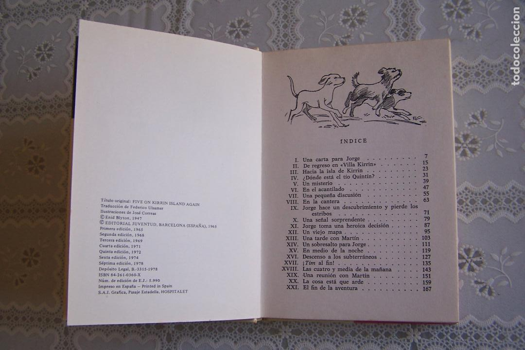 Libros de segunda mano: LOS CINCO OTRA VEZ EN LA ISLA DE KIRRIN. ENID BLYTON. EDITORIAL JUVENTUD, 1978. 7ª EDICIÓN. - Foto 2 - 129119646