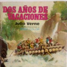 Libros de segunda mano: DOS AÑOS DE VACACIONES JULIO VERNE 1ª EDICIÓN AÑO 1977. Lote 82653932