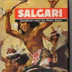 Libros de segunda mano: SALGARI : AVENTURAS ENTRE LOS PIELES ROJAS (MOLINO, 1955). Lote 86048896