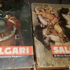 Libros de segunda mano: SALGARI. EL GRAN CAZADOR DE LAS PRADERAS Y EL CORSARIO NEGRO. Lote 86161592