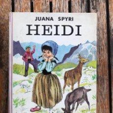 Libros de segunda mano: HEIDI. AUTORA, JUANA SPYRI. EDITORIAL JUVENTUD AÑO 1967. ILUSTRADO POR PAUL HEY. Lote 87481867
