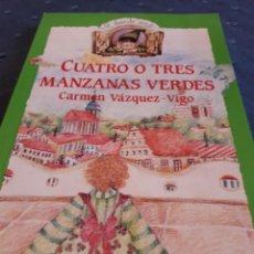 Libros de segunda mano: CUATRO O TRES MANZANAS VERDES. ANAYA. LIBRO.. Lote 89095631