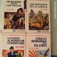 Libros de segunda mano: LOTE DE CUATRO NOVELAS DE JULIO VERNE. HISTORIAS SELECCION EDITORIAL BRUGUERA. Lote 90660515