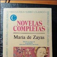 Libros de segunda mano: NOVELAS COMPLETAS. MARIA DE ZAYAS. Lote 91027825
