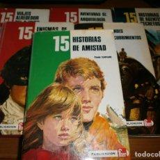 Libros de segunda mano: LOTE 9 LIBROS 15 HISTORIAS DE ..... ENIGMAS, DESCUBRIMIENTOS, ...ETC - EDT. FHER.. Lote 49786843