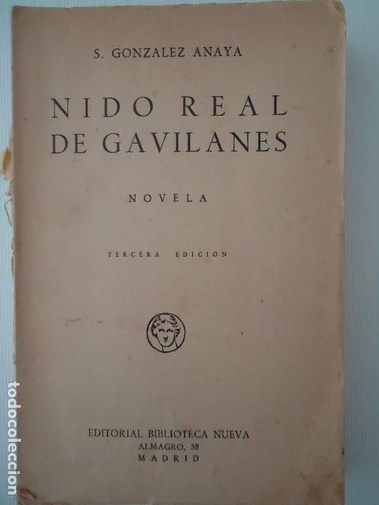 ba0db4dc784d6a libro. nido real de gavilanes. de s. gonzalez a - Buy Novels for ...