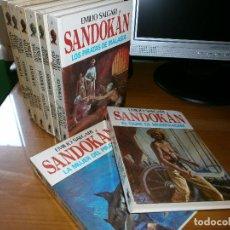 Libros de segunda mano: LOTE 6 LIBROS COLECCIÓN SANDOKAN - EMILIO SALGARI - Nº 1,2,4,5,6,8 - EDT. MOLINO -1976. Lote 180957263