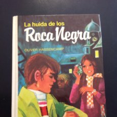 Libros de segunda mano: LIBRO LA HUIDA DE LOS ROCA NEGRA DE OLIVER HASSENCAMP, LIBRO MAE 2004, ILUSTRADO. Lote 95731775