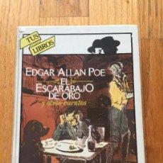 Libros de segunda mano: EL ESCARABAJO DE ORO, EDGAR ALLAN POE, ANAYA TUS LIBROS. Lote 96573159