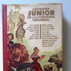Libros de segunda mano: ANTOLOGIA JUNIOR DE LA LITERATURA UNIVERSAL 1972 WILDE, DICKENS, CERVANTES . Lote 99957455