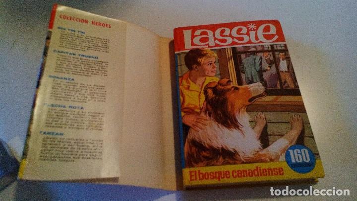 Libros de segunda mano: EL BOSQUE CANADIENSE-Lassie-Colección Héroes. 1966. 2ª Edición Editorial Bruguera nº 22-CON SOBRECUB - Foto 3 - 105307355
